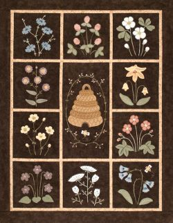 Bee Skep Wall Quilt